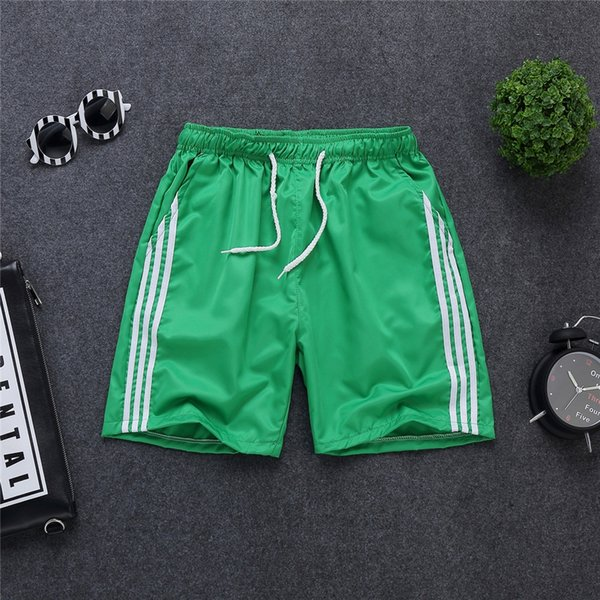 three-bar shorts Green