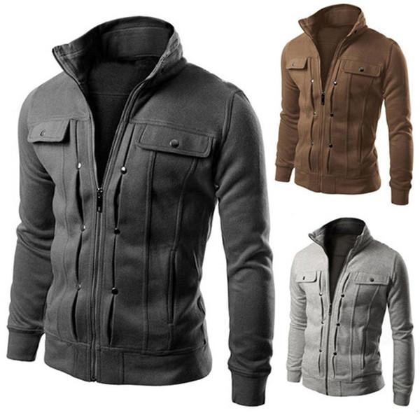 best selling Jacket Hoodie New Fashion Fall Winter Men's Woolen Sweater Slim Sportswear