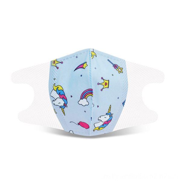 children's 3D4-12 blue unicorn