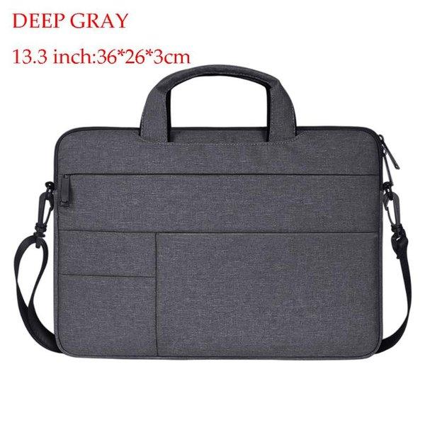 gris 13,3 pulgadas de profundidad
