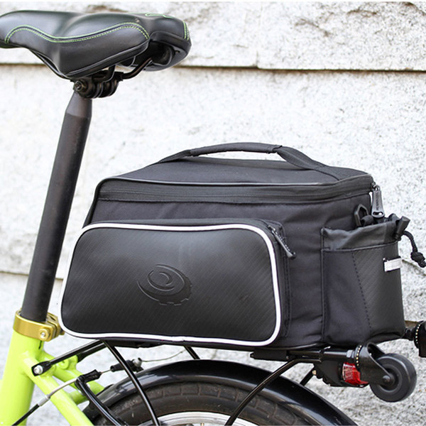 top popular ROSWHEEL Bicycle Carrier Bag Rack Trunk Bike Luggage Back Seat Pannier Outdoor Cycling Storage Handbag Shoulder Strip 14815 MX200717 2021