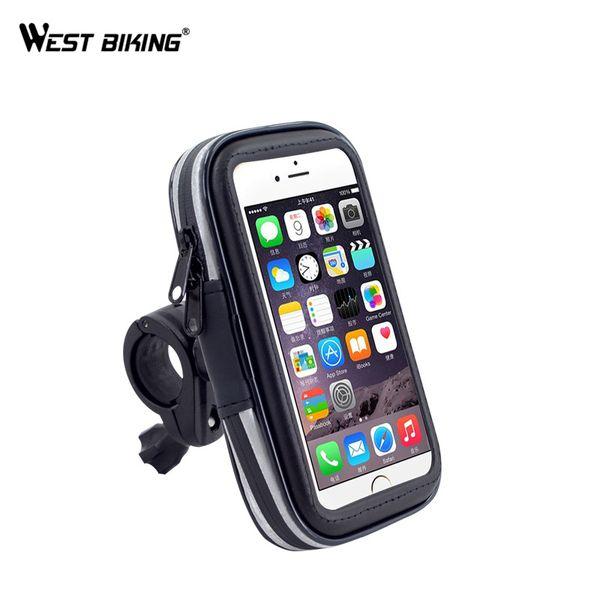 top popular WEST BIKING Waterproof Riding Bike Front Tube Bag Cycling Handlebar Pannier Smartphone & GPS Touch Screen Case Bicycle Bike Bag MX200717 2021