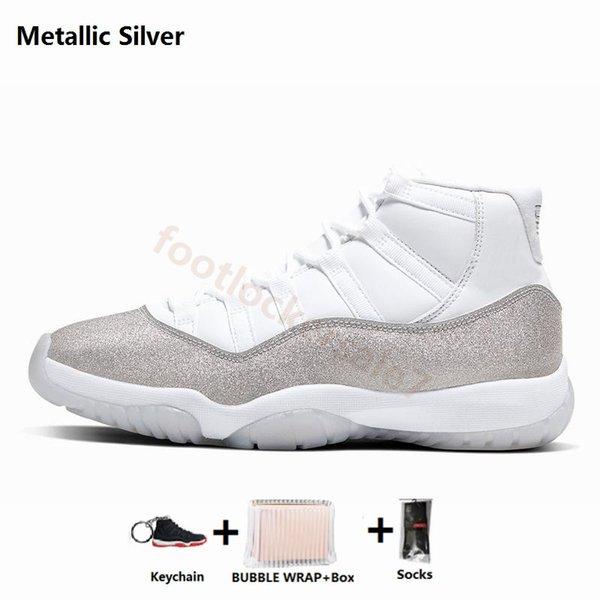 11'ler Metalik gümüş