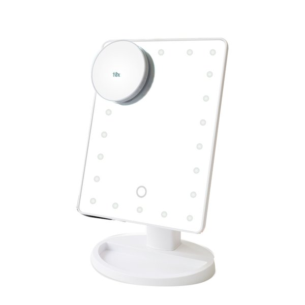 16 LED + 10x зеркало белый