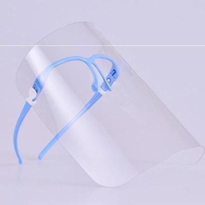 Blau-Masken mit Brille