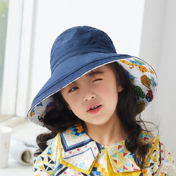 Floral Double-sided Eaves-bacino Hat-marina