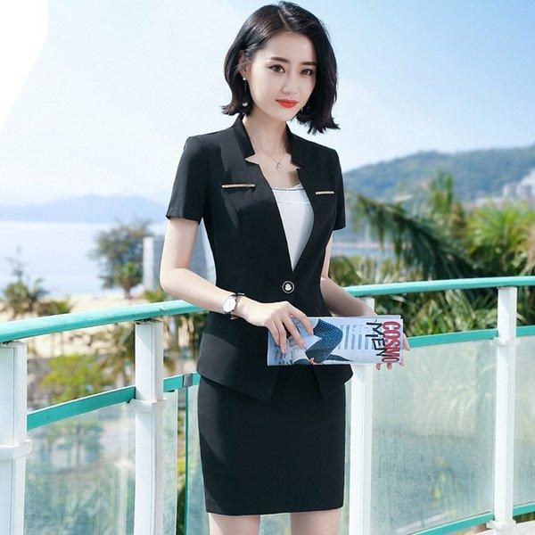 Negro traje de falda negro +