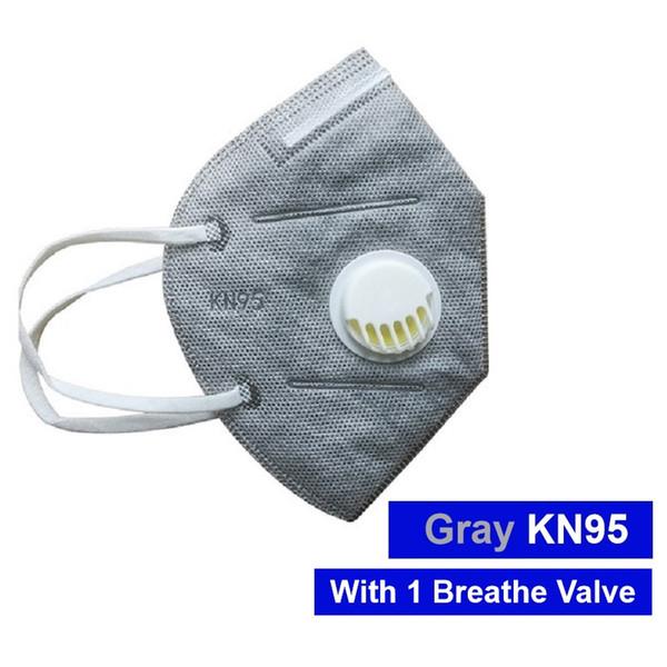 Masque gris avec une vanne