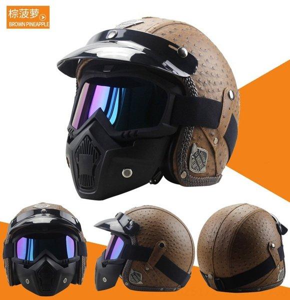 marrone ananas maschera casco +