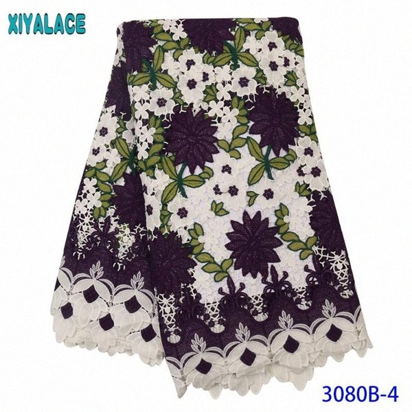best selling 2020 Latest Guipure Lace Cord Lace African Cord Fabric High Quality French Nigeria Embroidery Fabric KS3080B jgMk#