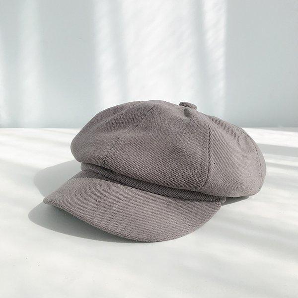 Saia di colore solido grigio-55-57cm