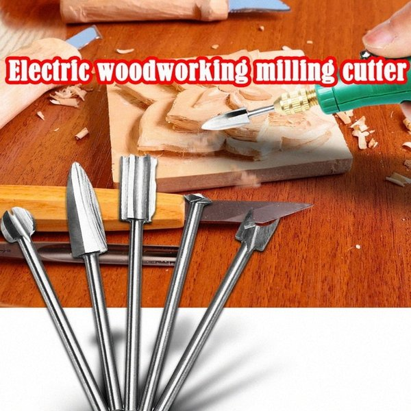 best selling 5Pcs set Electric Woodworking Engraving Milling Cutter Carving Tool Kit Amber Wood Carving Grinding Repair Electric Grinding Set Ag5d#