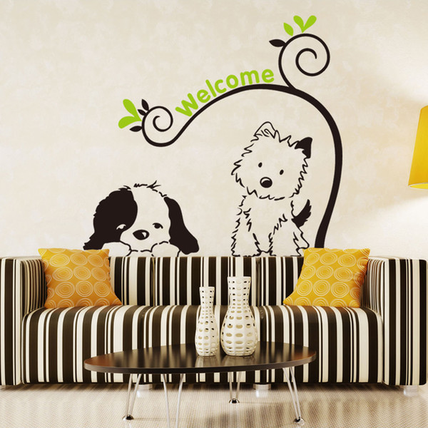 Cute cartoon dog animals Wall Sticker Removable Art Vinyl Decals for Kids Room Home Decor background decoration stickers Model NumberW0 SpecificationSingle-piece Package Censor CodeNone Brand NameHonC ClassificationFor Wall ScenariosWALL PatternPlane Wall Sticker MaterialPVC ThemeAnimal StyleClassic is_customizedyes Receive Size50cm x 70cm