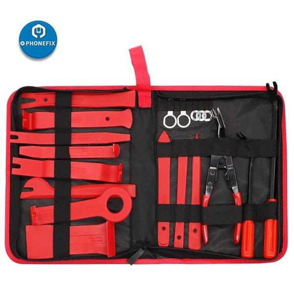 19pcs kit de herramientas roja