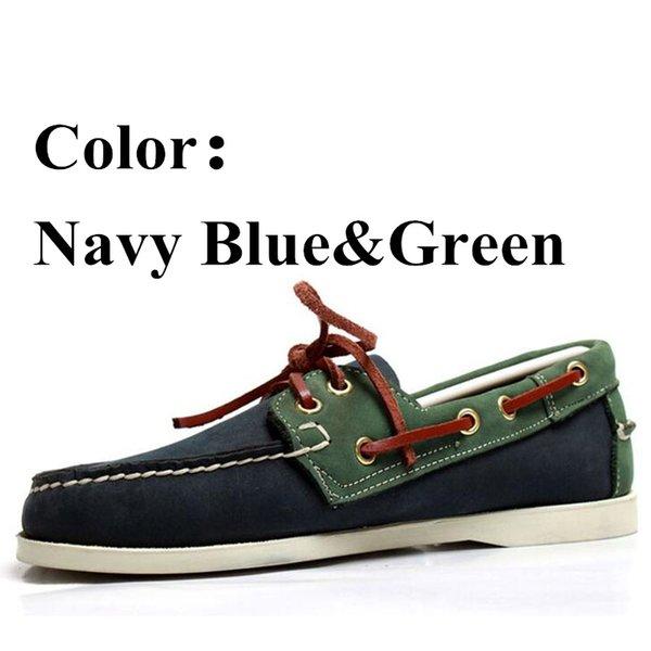 Marineblau-Grün