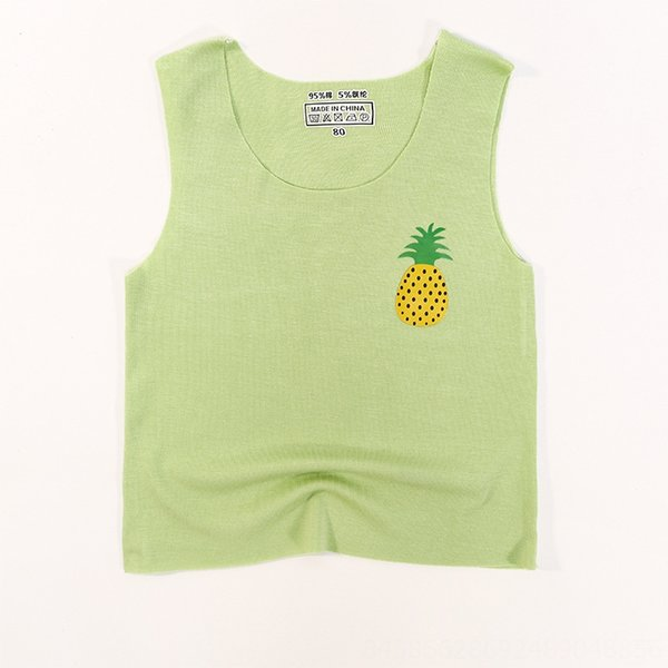 [Green] small pineapple seamless vest