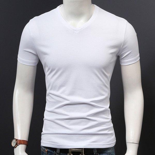 Cuello en V Blanca