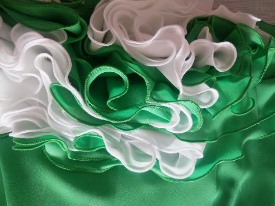 L'usure des deux côtés (blanc + vert)