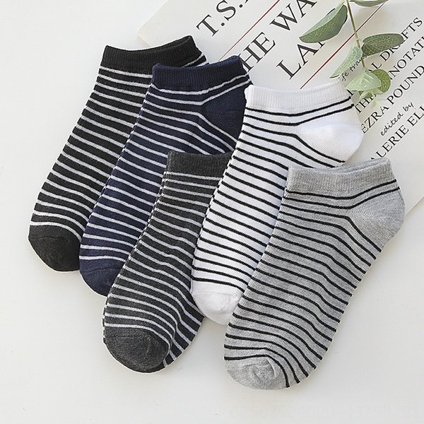 thickness striped boat Socks