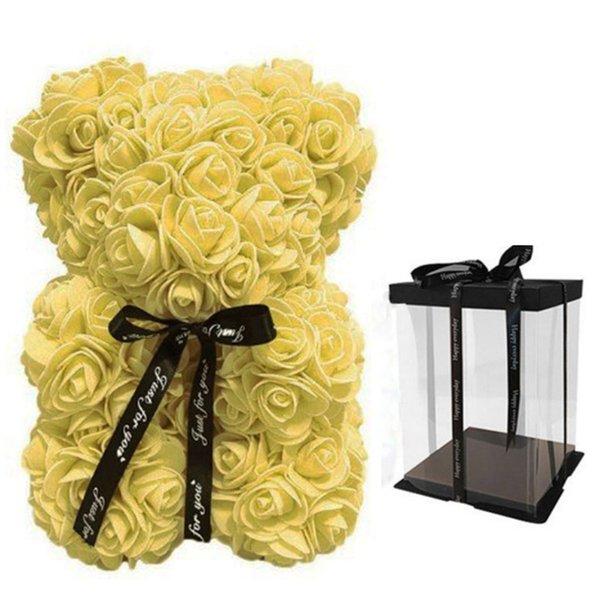 25 cm giallo con scatola