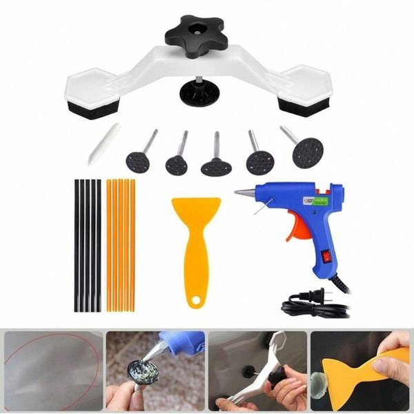 top popular Dent Remover Bridge Dent Repair Tools Kit Paintless Removal Repair Puller Pulling Auto Body Motorcycle Washing Machine S1Cb# 2021