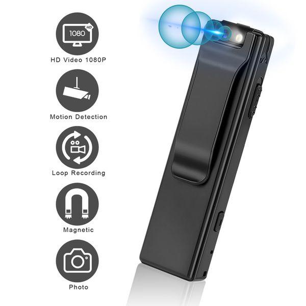 Wholesale ini Camcorders Vandlion A3 Mini Digital Camera HD Flashlight Micro Cam Magnetic Body Camera Motion Detection Snapshot Loop Recording Camc...