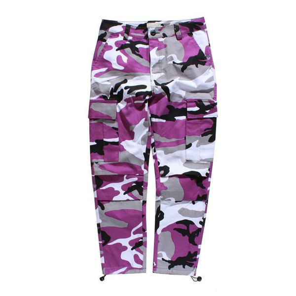 top popular Camouflage Mens Cargo Pants Full Length Spring Multy Camo Hip Hop Pants Men Women Streetwear Toursers Men 8 Colors 2020