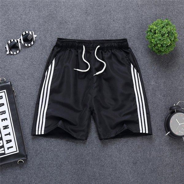 three-bar shorts Black