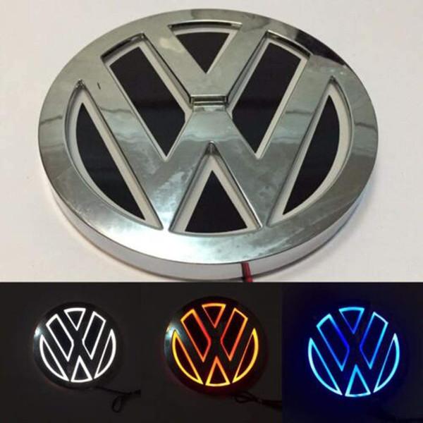 best selling 5D LED Car Tail Logo Light for Volkswagen VW CC Bora Golf Magotan Tiguan Scirocco Badge Light