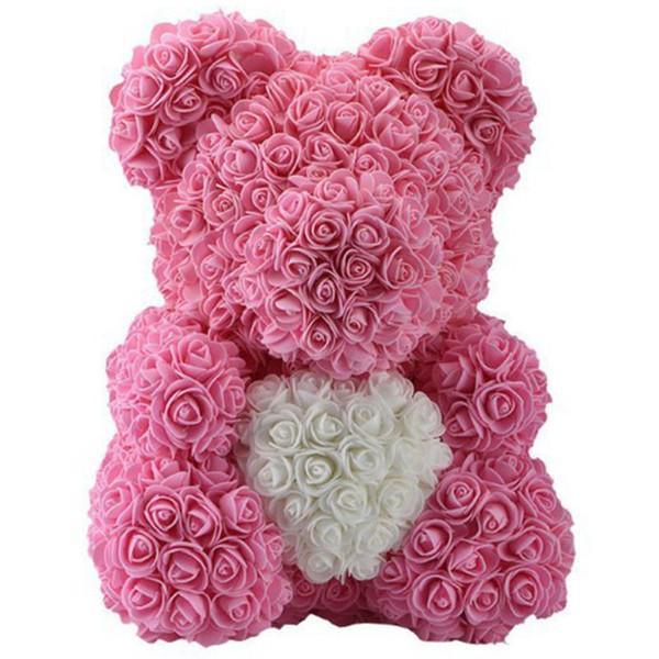 розовый с сердцем