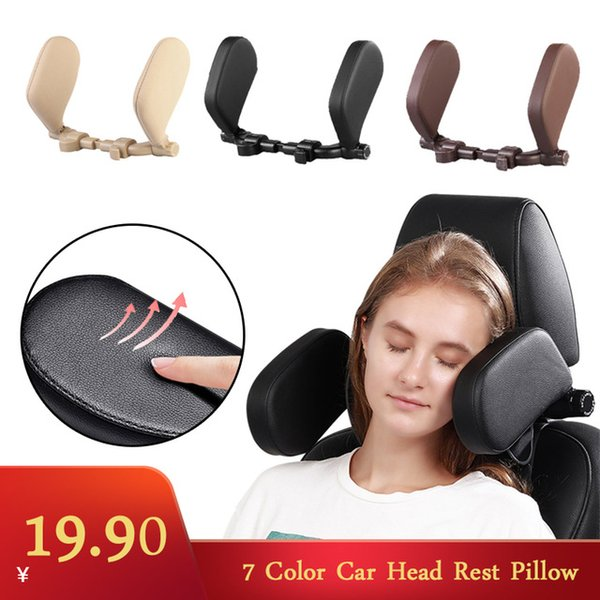 Wholesale car sleep pillow resale online - utomobiles Motorcycles Car Neck Headrest Pillow Cushion Seat Support Head Restraint Seat Pillow Headrest Neck Travel Sleeping Cushion F
