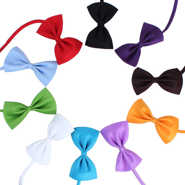 best selling 19 Colors Adjustable Pet Dog Bow Tie Dog Tie Collar Flower Accessories Decoration Supplies Pure Color Bowknot Necktie Grooming Supplies