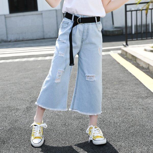açık mavi siyah kuşak pantolon