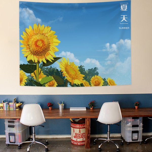 Nordic Modern Art Tapestry 3d Sunflower Aesthetic Door Window Yoga Tapestry Painting Blanket Background Tapiz Wall Decor Ad50wt Gobelin Tapestry Hand Woven Tapestries From Highqualityok2 54 72 Dhgate Com