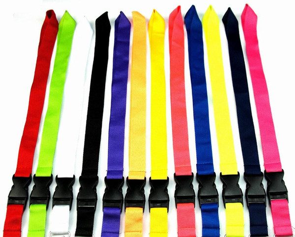 best selling FREE SHIPPING Hot 500pcs Solid color Lanyard for MP3 4 cell phone key chain lanyards wholesale