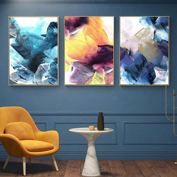 top popular Nordic Style Art Canvas Painting Abstract Brush Posters and Prints Wall Decorative Picture for Living Room Modern Home Decor 2021