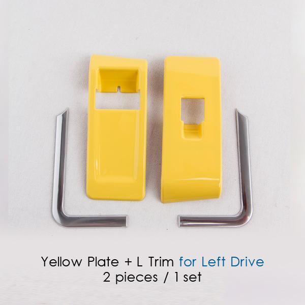Yellow plate L Trim