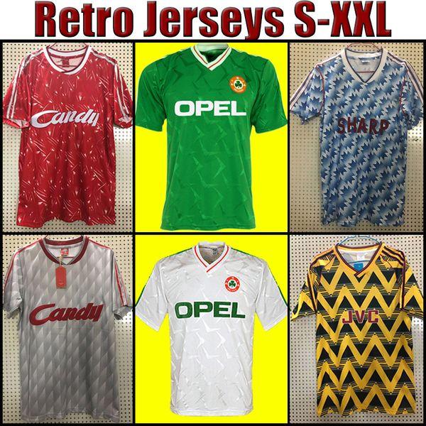 top popular Ireland RETRO soccer jerseys TOP Thailand 1990 1992 1994 94 vintage football shirt Northern National Team 90 93 World cup green white 001 2021