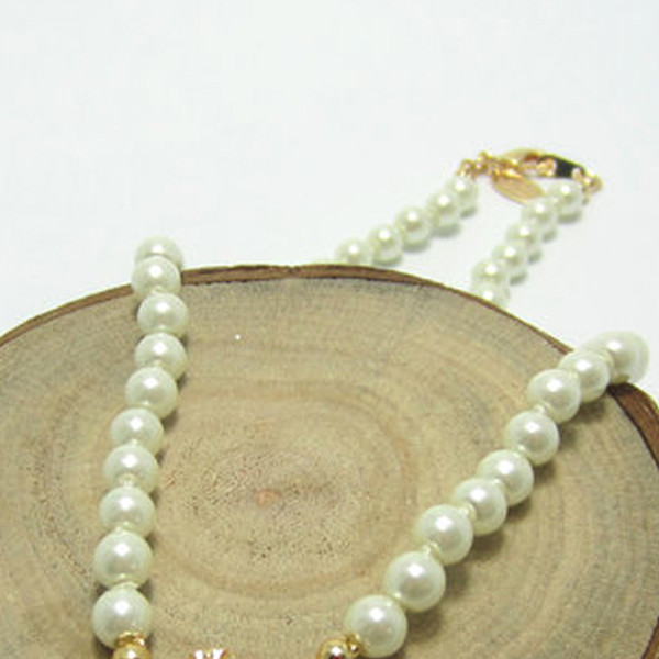 top popular Hot Pearl Chain Planet Necklace Women Rhinestone Satellite Pendant Necklace for Gift Party Fashion Jewelry High Quality 2021