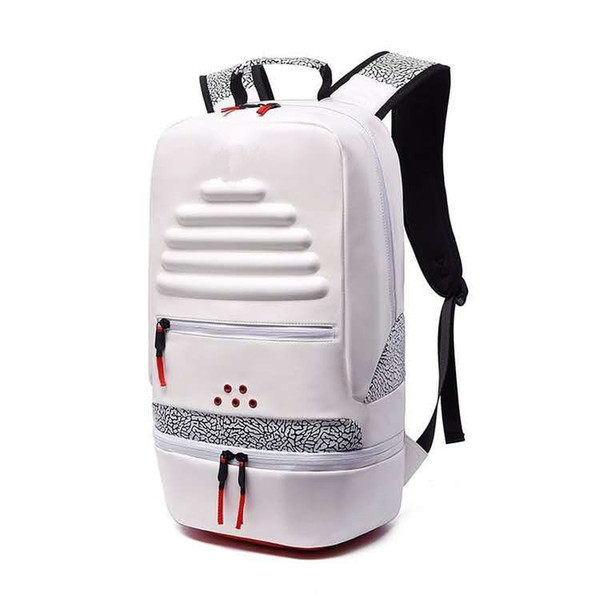 best selling backpack Man and woman PU fashion cement crack basketball backpack outdoor Leisure splice Mountain climbing tourism student school bag new s