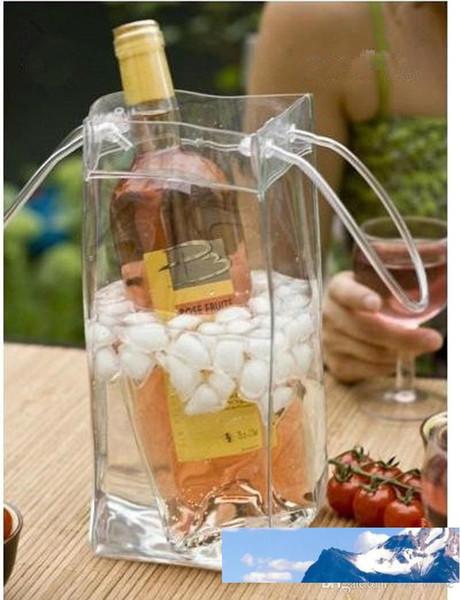 top popular Bag Gift Wine Beer Champagne Bucket Drink Ice Bag Bottle Cooler Chiller Foldable Carrier Favor Gift Festival Bags 2021