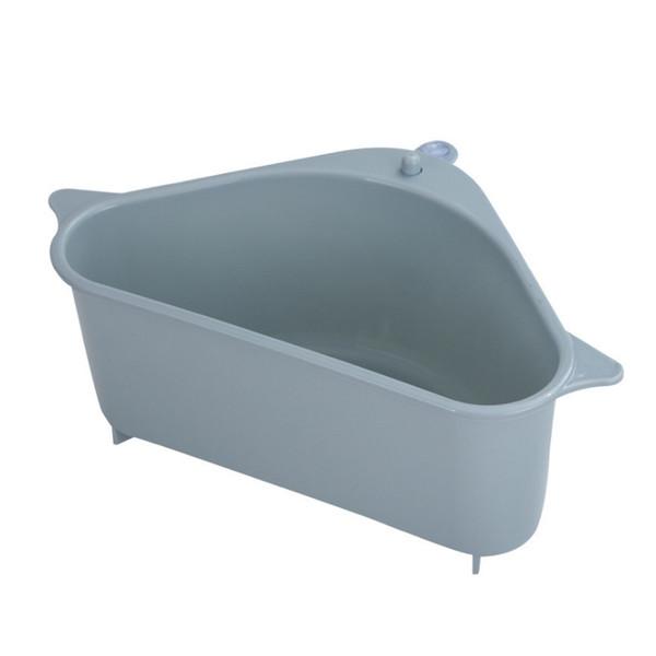 top popular Multifunctional Corner Sink Drain Rack Shelf Suction Cup Sink Drain Basket Bowl Sponge Holder Kitchen Bathroom Storage Organizer 2021