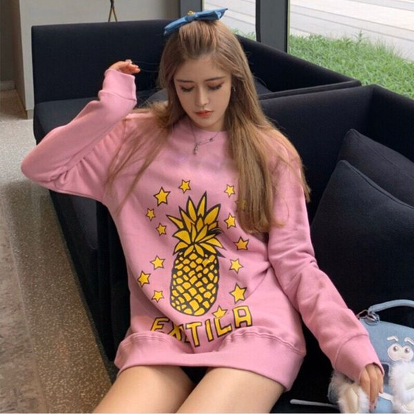 best selling high quality pineapple Hoodie Sweatshirts Long Sleeve Shirts Hoodies Top Autumn Spring women fashion clothing Printed letters Sweater EU S-L
