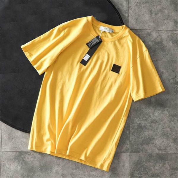 top popular Mens Designer Tshirts Summer Men and Women Short Sleeve Top Tees Badge Shirts Mens Clothes Size M-2XL High Quanlity 2021