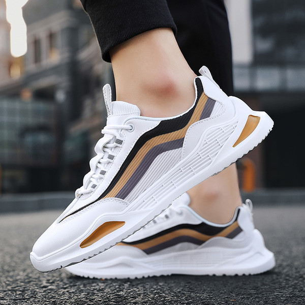 Summer Light Men Sneakers Trend Breathable Sports Shoes Men Rubber Hard-Wearing Running Shoes for Men Fitness Training Shoes
