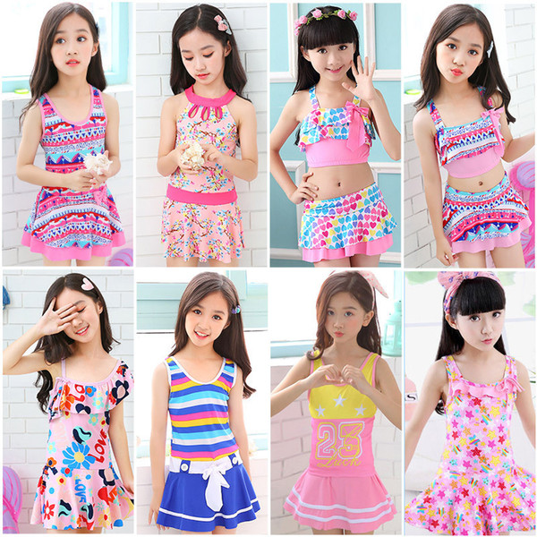 best selling Kids Baby Girls Swimwear Floral Print Summer Princess One-piece Swimwear Bikinis Swimsuit Bathing Suit Beachwear Children Swim Dress Sale
