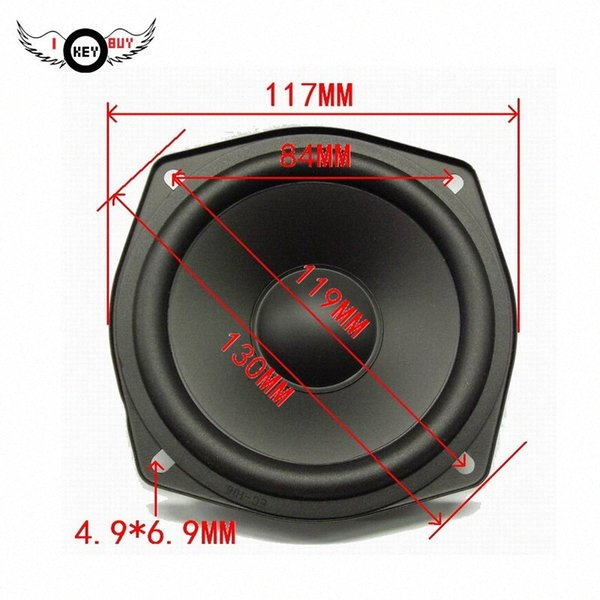top popular I Key Buy High Quality 4.5 Inch Waterproof 8 Ohm Bass Speaker 117MM RMS 30W Car Midrange Speakers VoT0# 2021