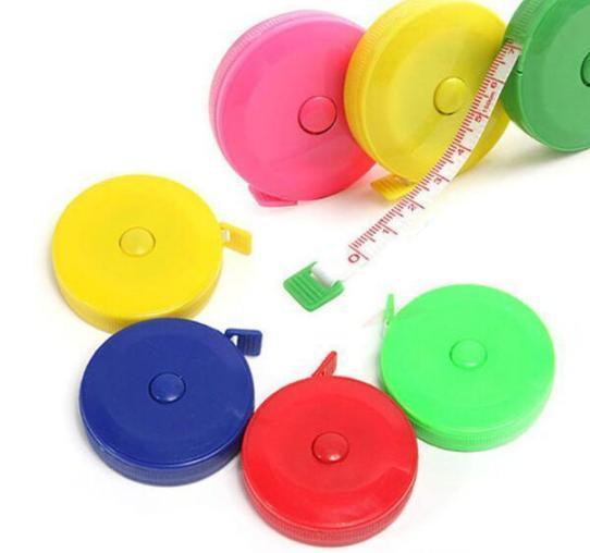 best selling New portable 1.5m retractable ruler centimeter inch tape measure mini ruler Colorful cute design Great for travel camping 200pcs