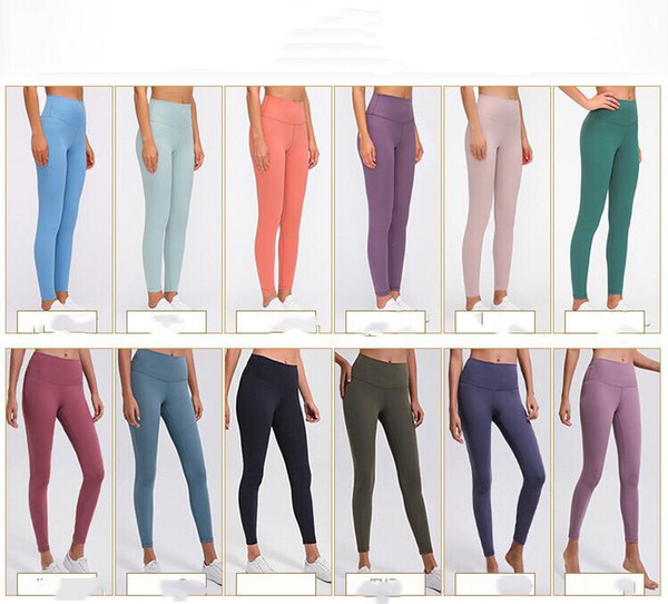 best selling L19108 yoga leggings high waist women yoga pants spandex sports gym Wear leggings Elastic Fitness Lady Overall Full Tights Workout