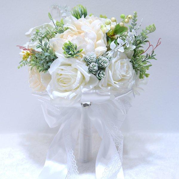 weißer Blumenstrauß nur